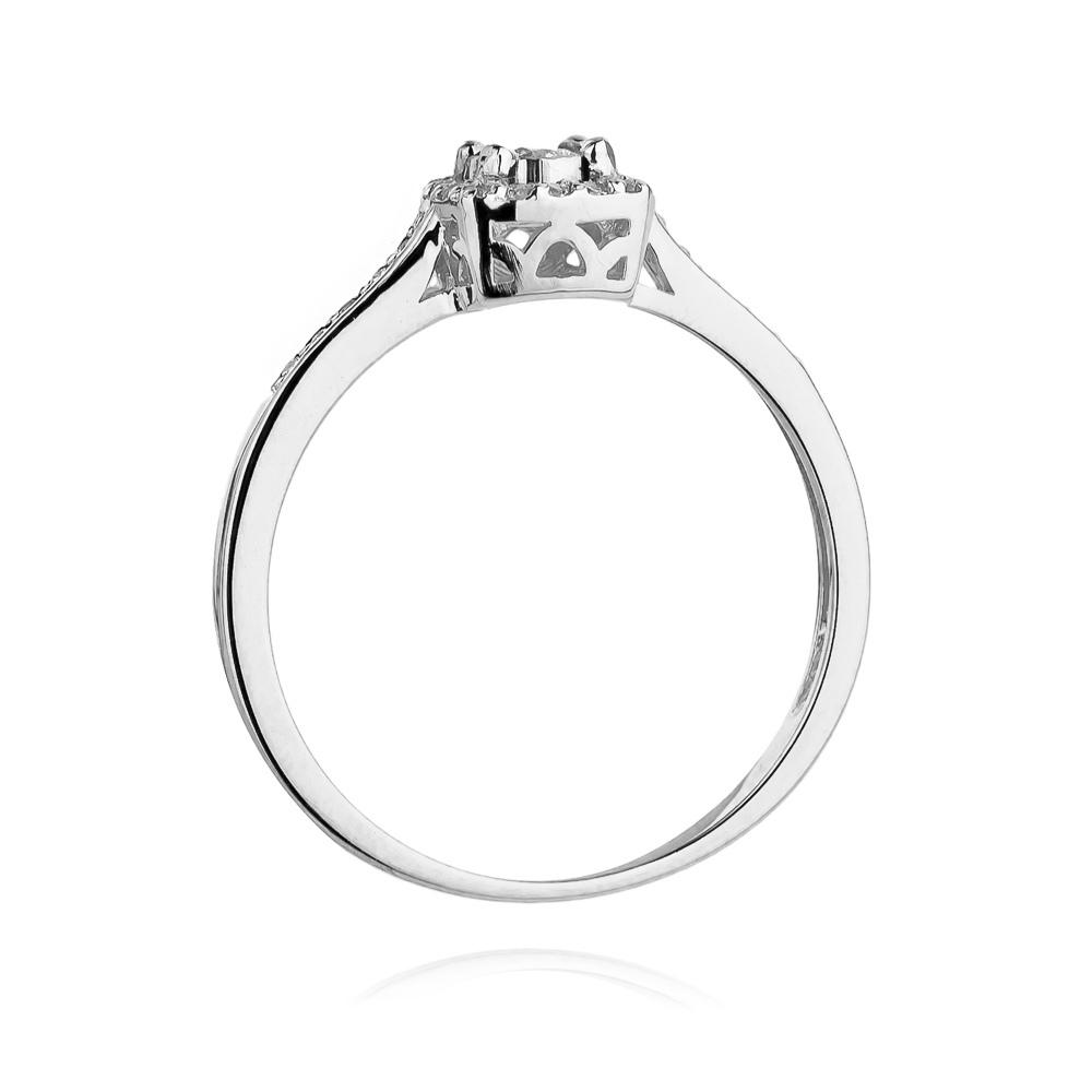 Pierścionek zaręczynowy z brylantami 0,21ct pr.585