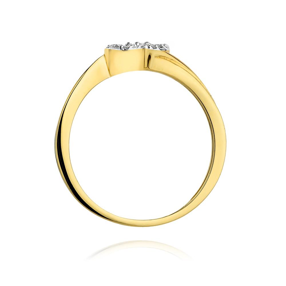 Pierścionek zaręczynowy z brązowymi brylantami 0,18ct - Serce pr.585