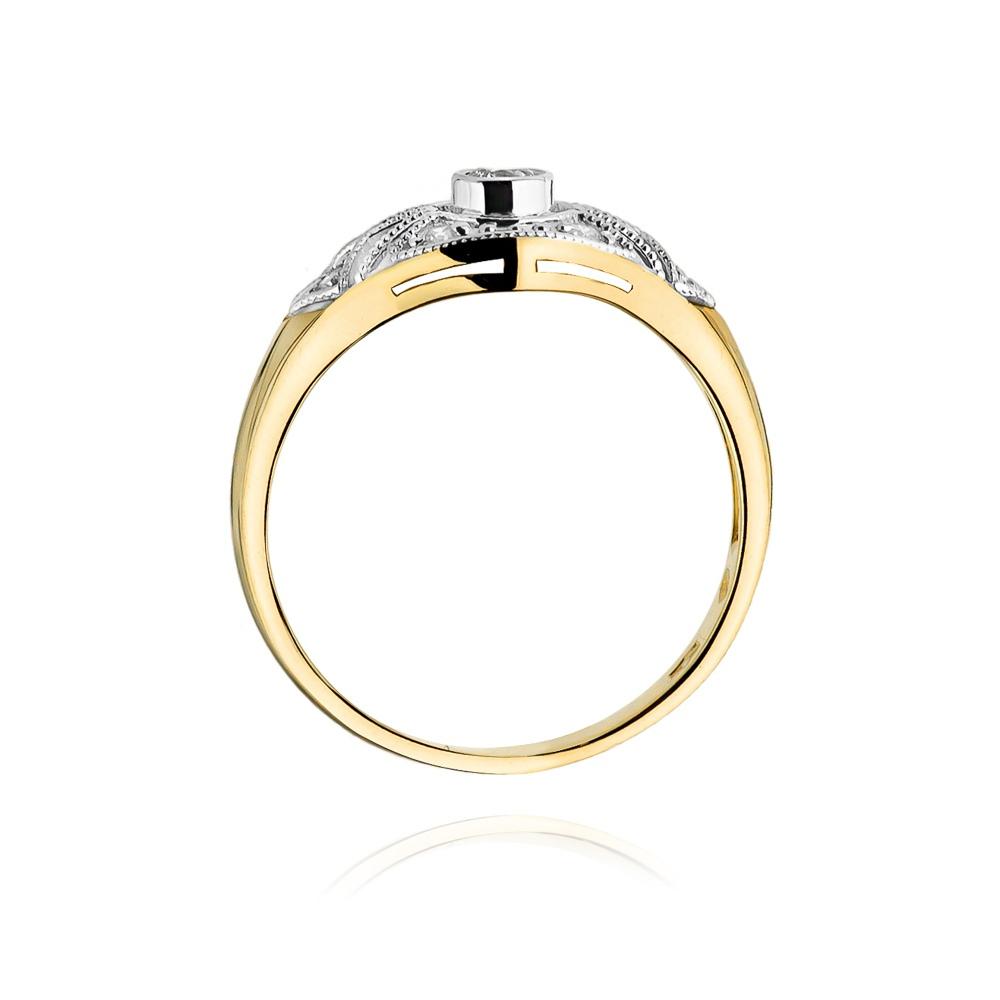 Pierścionek zaręczynowy z brylantami 0,19ct pr.585