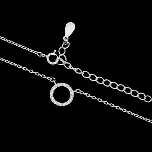 Srebrny naszyjnik z cyrkoniami - Ring pr.925