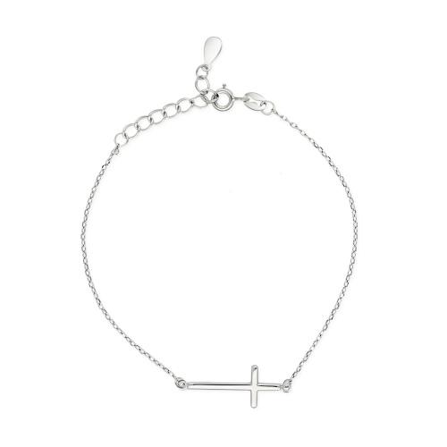 Srebrna bransoletka - Krzyżyk pr.925