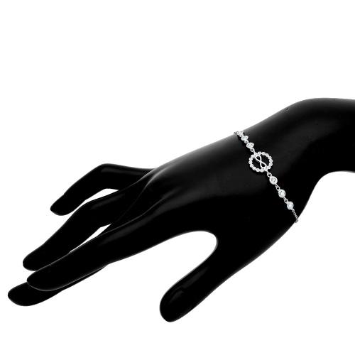 Srebrna bransoletka z cyrkoniami - Nieskończoność pr.925