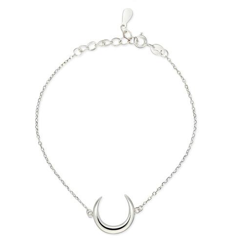 Srebrna bransoletka - Księżyc pr.925