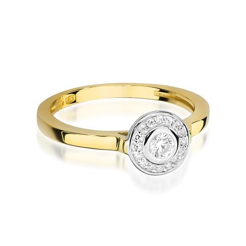 Pierścionek zaręczynowy z brylantami 0,20ct pr.585