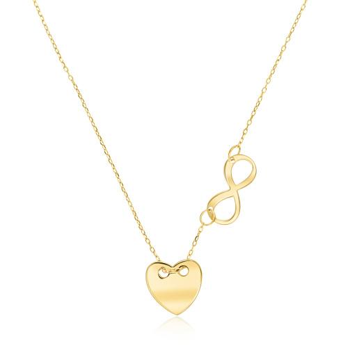 Złoty naszyjnik celebrytka - Nieskończonona miłość pr.333