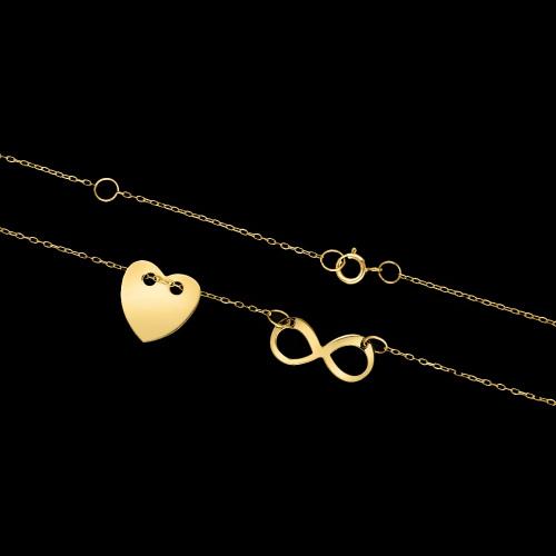 Złoty naszyjnik celebrytka - Nieskończonona miłość pr.585