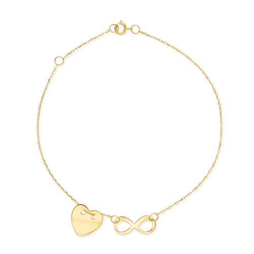 Złota bransoletka celebrytka - Nieskończona miłość pr.333