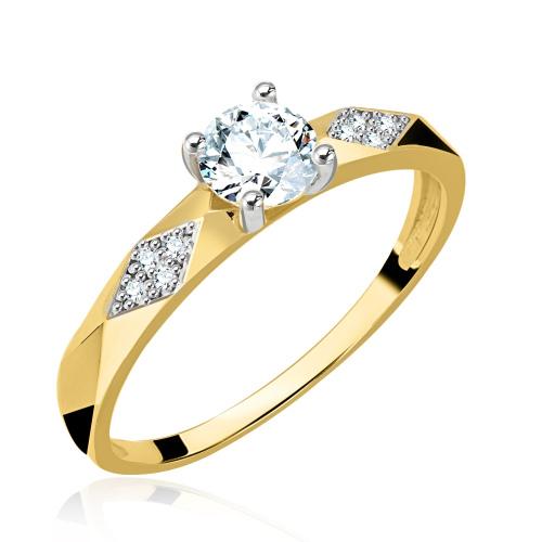 Złoty pierścionek z cyrkonią pr.333