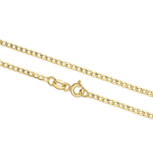 Złoty łańcuszek - Zdobiona Pancerka 50cm pr.333