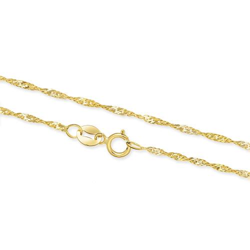 Złoty łańcuszek - Singapur 45cm pr.585