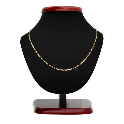 Złoty łańcuszek - Zdobiona Pancerka 45cm pr.585