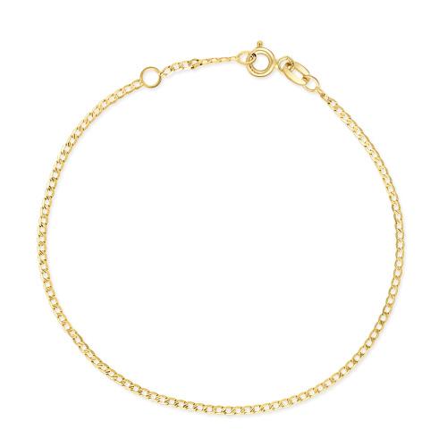 Złota bransoletka - Zdobiona Pancerka 16-18cm pr.585