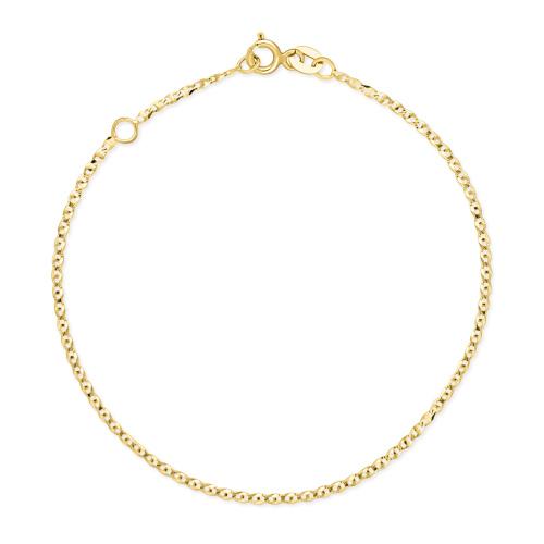 Złota bransoletka - Gucci 17-19cm pr.585