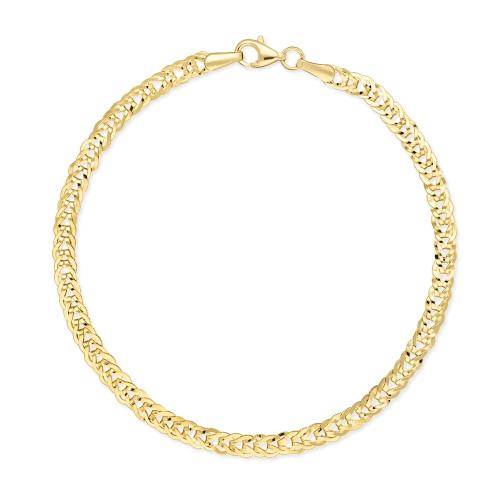 Złota Bransoletka - Ozdobny Splot 19cm pr. 585