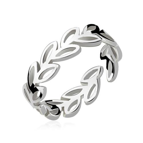 Srebrny pierścionek - Gałązka Oliwna pr.925