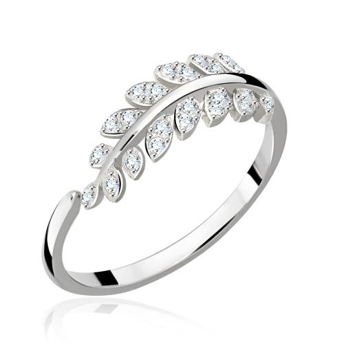 Srebrny pierścionek z cyrkoniami - Gałązka pr.925