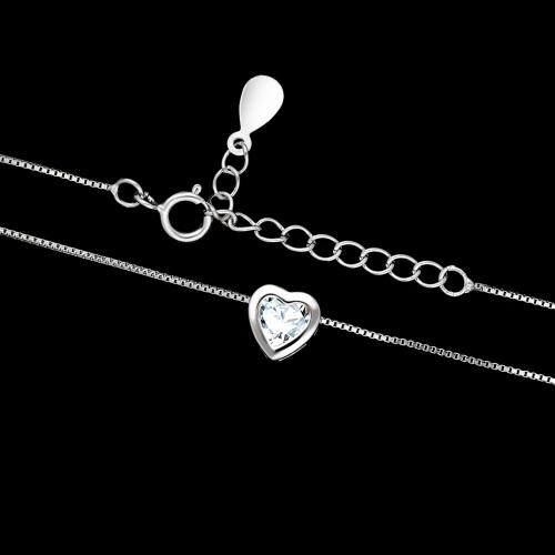 Srebrny naszyjnik z cyrkonią - Serce pr.925