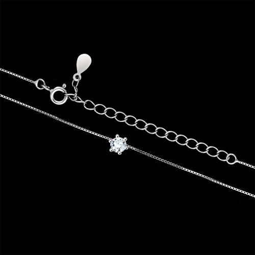 Srebrny naszyjnik z cyrkonią - Oczko pr.925