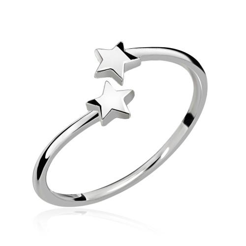 Srebrny pierścionek - Gwiazdki pr.925