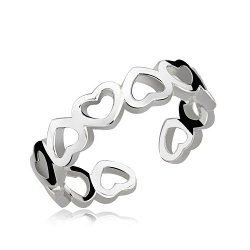 Srebrny pierścionek - Serca pr.925