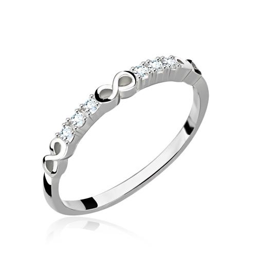 Srebrny pierścionek z cyrkoniami - Nieskończoność pr.925