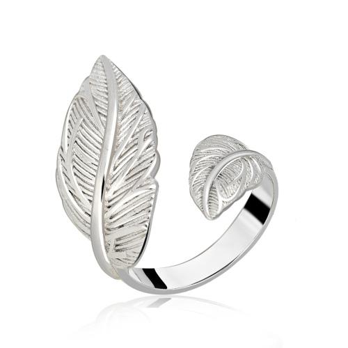 Srebrny pierścionek - Liść pr.925