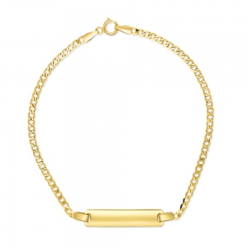 Złota bransoletka 19cm, Blaszka pod Grawer pr.333