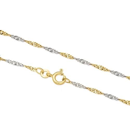 Złoty łańcuszek - Singapur 50cm pr.333
