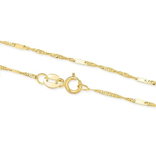 Złoty Łańcuszek Zdobiony Singapur 42cm pr. 333