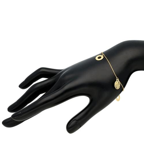Złota bransoletka - Koła pr.585