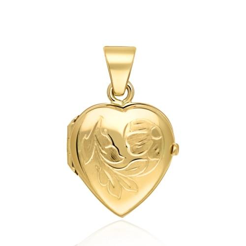 Złota zawieszka - Sekretnik Serce pr.585