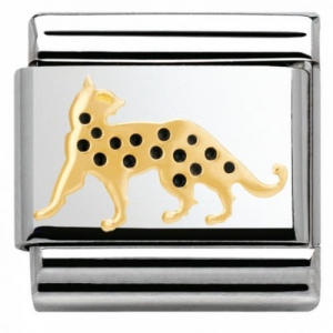 Nomination - Link 18K Gold 'Leopard' 030248/16