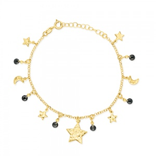 Pozłacana bransoletka celebrytka - Nocne niebo pr.925