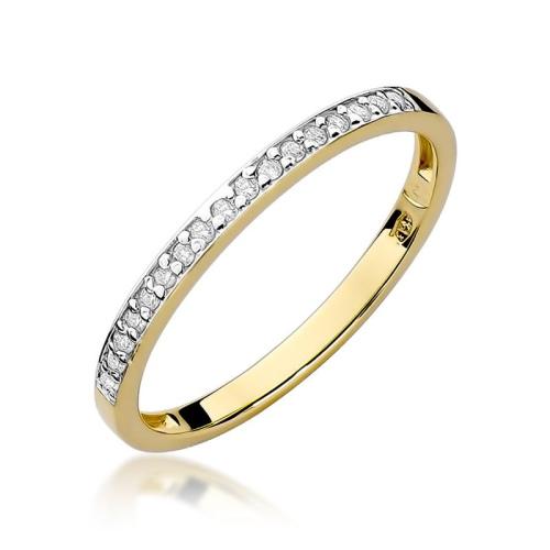Pierścionek zaręczynowy 585 złoto z brylantami brylantami 0,09ct