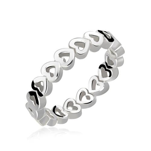 Srebrny pierścionek - Serduszka pr.925
