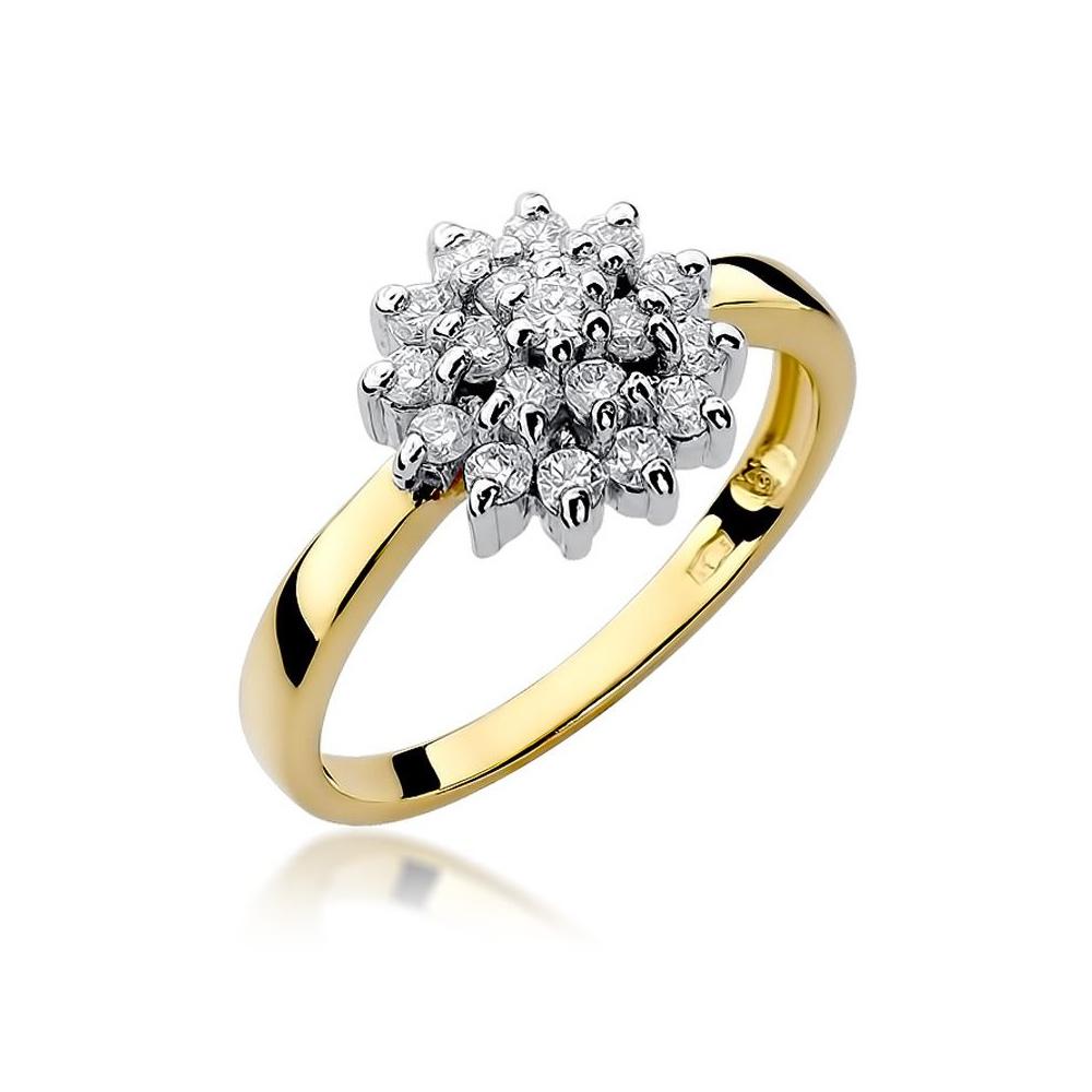 Pierścionek zaręczynowy 585 złoto z brylantami 0,40ct