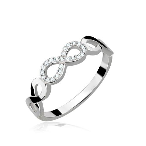 Srebrny pierścionek z cyrkoniami - Nieskończoności pr.925