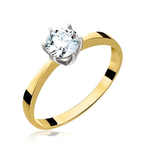 Pierścionek zaręczynowy z brylantem 0,72ct pr.585
