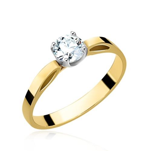 Pierścionek zaręczynowy z brylantem 0,55ct pr.585