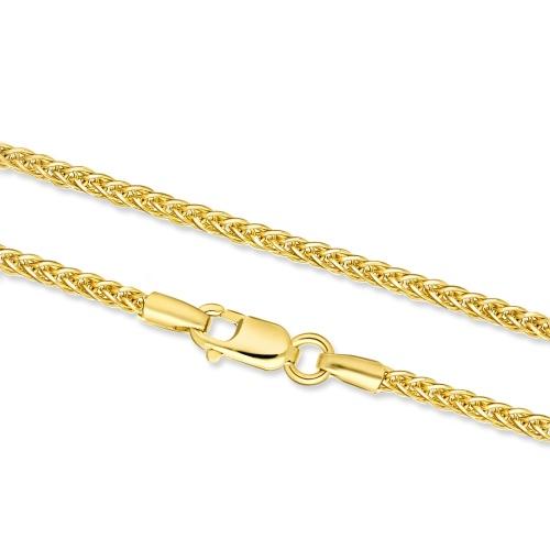 Złoty Łańcuszek Lisi Ogon 50cm pr. 585