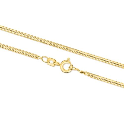Złoty Łańcuszek Pancerka 45cm pr.333