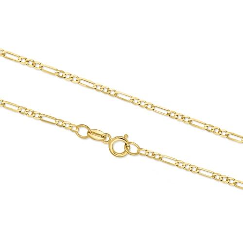 Złoty Łańcuszek Figaro 45cm pr. 333