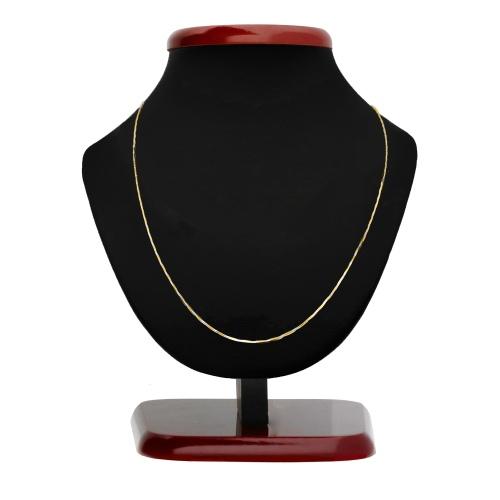 Złoty łańcuszek - Ozdobna Żmijka 45cm pr.585