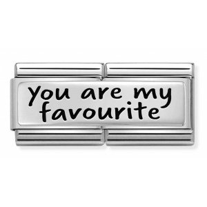 Nomination - Link 925 Silver 'You are my favorite' 330710/31
