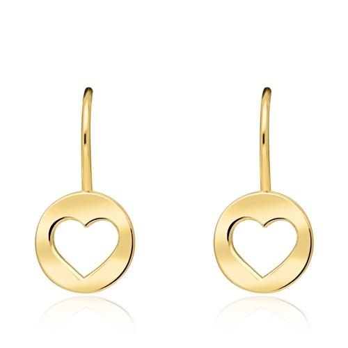 Złote kolczyki - Serce pr.585