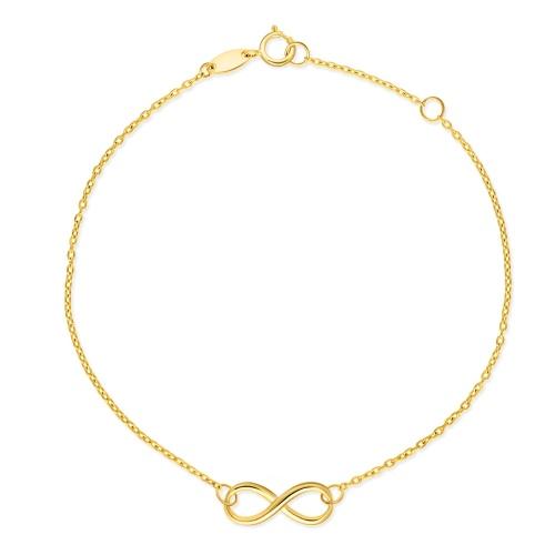 Złota bransoletka celebrytka - Nieskończoność pr.333