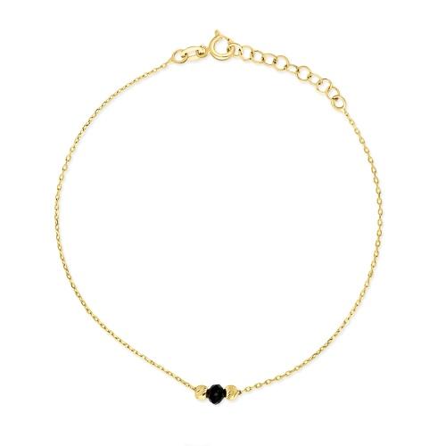 Złota bransoletka - Kulki pr.585