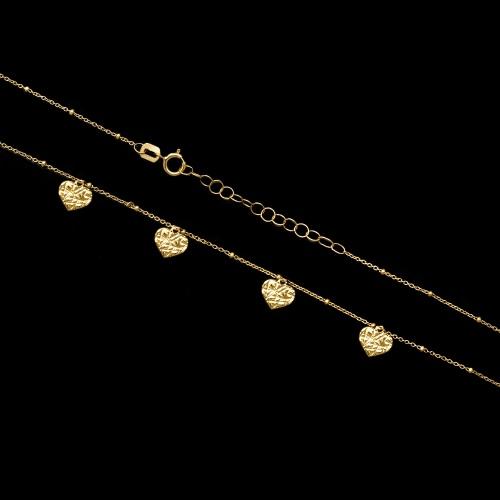 Złoty naszyjnik celebrytka - Serduszka pr.333
