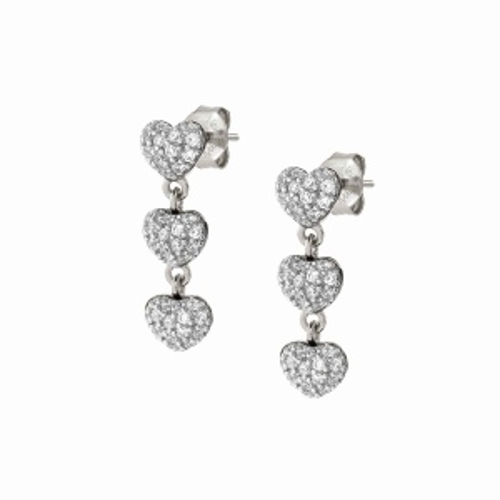 Kolczyki Nomination Silver - Easychic 'Hearts' 147914/023