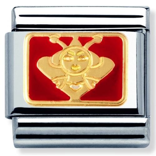Nomination - Link 18K Gold 'Królowa serc' 030272/26